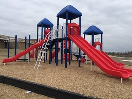 Carriage Hills Elementary received NEW Playground Equipment